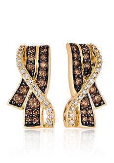 Le Vian Chocolate Diamond® and Vanilla Diamond® Earrings in 14k Honey Gold™