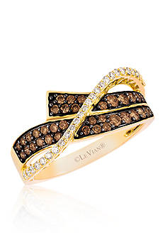 Le Vian Chocolate Diamond® and Vanilla Diamond® Ring in 14k Honey Gold™ - Belk Exclusive