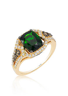 Le Vian Pistachio Diopside®, Vanilla Diamond®, Chocolate Diamond® Ring in 14k Honey Gold™