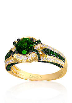 Le Vian® 14k Honey Gold™ Pistacio Diopside™, Kiwiberry Green Diamond™, and Vanilla Diamond® Ring - Belk Exclusive
