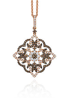 Le Vian Chocolate Diamond® and Vanilla Diamond® Pendant in 14k Strawberry Gold® - Belk Exclusive