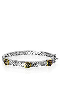 Belk & Co. Mocha Diamond Bangle in Sterling Silver with 14k
