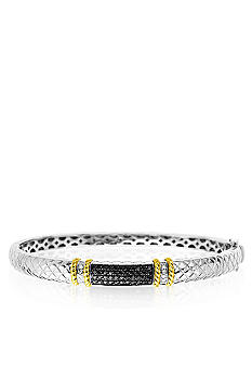 Belk & Co. Black and White Diamond Bangle in Sterling Silver with 14k