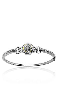 Belk & Co. 14k Gold and Sterling Silver Diamond Bangle