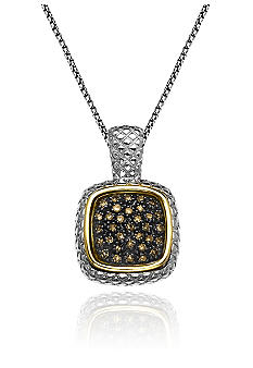 Belk & Co. Mocha Diamond Pendant in Sterling Silver with 14k Gold
