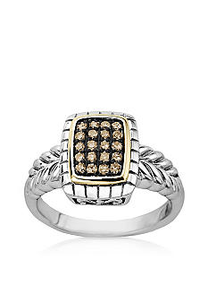 Belk & Co. Mocha Diamond Ring in Sterling Silver with 14k Gold <br>