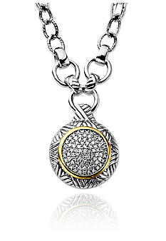 Belk & Co. Sterling Silver with 14k Diamond Necklace