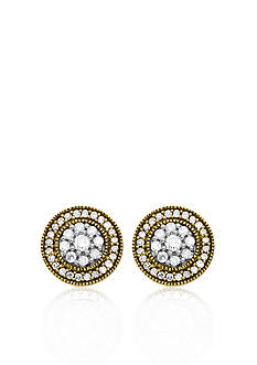 Belk & Co. Diamond Earrings in Sterling Silver with 14k Yellow Gold