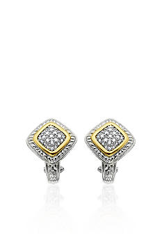 Belk & Co. Diamond  Earrings in Sterling Silver with 14k