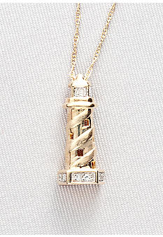 Belk & Co. Diamond Accent Lighthouse Pendant in 10k Gold