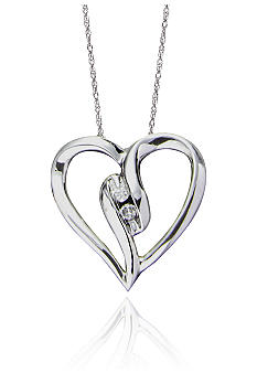 Belk & Co. Diamond Heart Shaped Pendant in 10k Gold