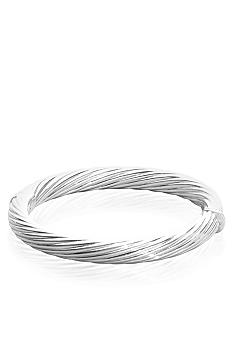 Belk & Co. Sterling Silver Twisted Bangle