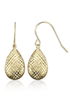 Belk & Co. 14k Diamond Cut Teardrop Earrings