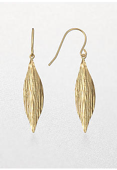 Belk & Co. 14k Textured Leaf Earring