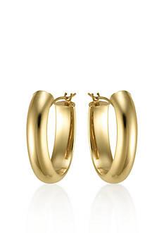 Belk & Co. 14K Yellow Gold Hidden Closure Oval Hoop