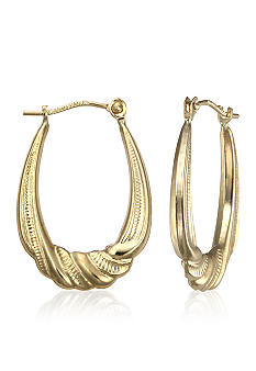 Belk & Co. 14k Twist Bottom Hoop