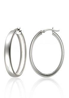 Belk & Co. Sterling Silver Oval Hoop Earrings
