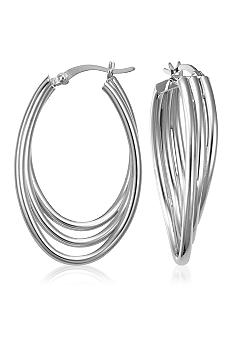 Belk & Co. Sterling Silver Layered Swirl Hoop