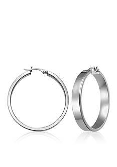 Belk & Co. Sterling Silver Rectangular Tube Hoop Earrings