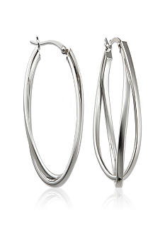 Belk & Co. Sterling Silver Double Twist Hoop Earrings