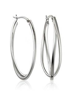 Belk & Co. Sterling Silver Double Twist Hoop Earrings