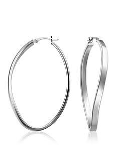 Belk & Co. Sterling Silver Oval Twist Hoop Earrings