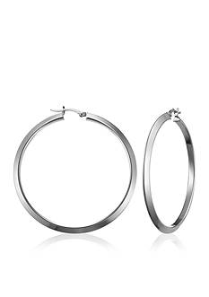Belk & Co. Sterling Silver Triangular Tube Hoop Earrings