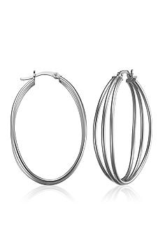 Belk & Co. Sterling Silver Triple Hoop Earrings