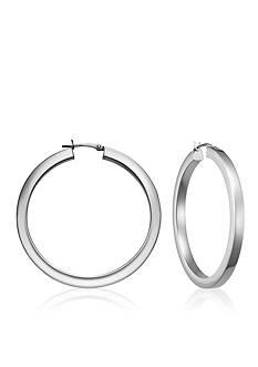 Belk & Co. Sterling Silver Square Tube Hoop Earrings