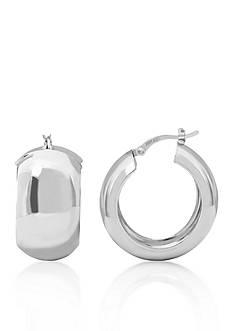 Belk & Co. Polished Hoop Earrings in Sterling Silver