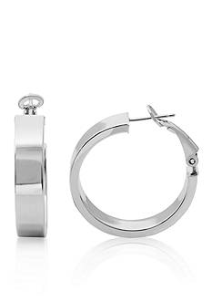Belk & Co. Sterling Silver Omega Hoop Earrings