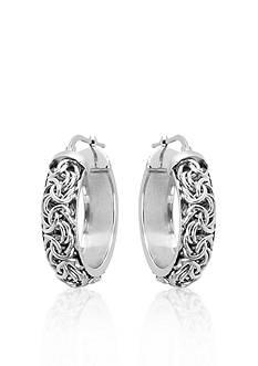 Belk & Co. Sterling Silver Byzantine Hoop Earrings