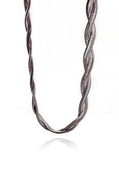 Belk & Co. Sterling Silver Braided Snake Chain Necklace