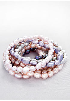 Belk & Co. Multi-Colored Pearl Stretch Bracelets Set of 10