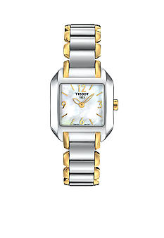 Tissot T-Wave Ladies Mother Of Pearl Quartz Two-Tone Watch