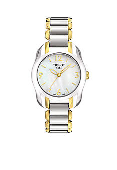 Tissot T-Wave Round Women's White Mother Of Pearl Quartz Trend Watch