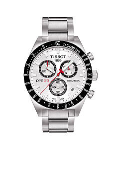 Tissot PRS516 Men's Silver Quartz Chronograph Steel Watch