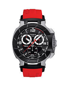 Tissot Men's T-Race Quartz Chronograph Red Rubber Strap Watch