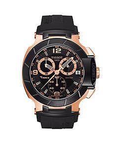 Tissot Black Quartz Chronograph Rubber Watch