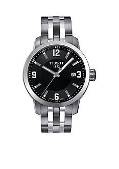Tissot Men's PRC 200 Black and Stainless Watch