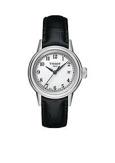 Tissot Women's Carson Black Leather Watch