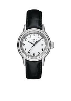 Tissot Women's Carson Black Leather Watch