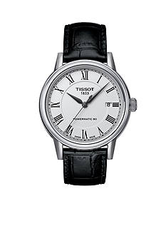 Tissot Men's T-Classic Carson White Dial Black Leather Watch
