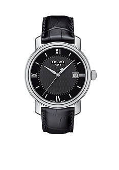 Tissot Men's Bridgeport Quartz Black Leather Watch