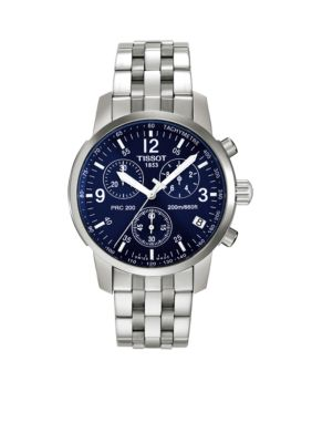 Buy men's briefcases - Tissot Blue PRC200 Men\'s Blue Quartz Chronograph Classic Watch