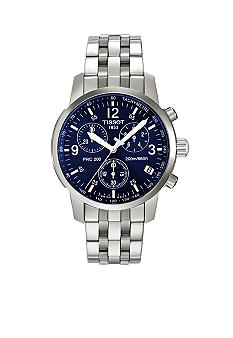 Tissot PRC200 Men's Blue Quartz Chronograph Classic Watch