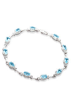 Belk & Co. Sterling Silver Blue Topaz Bracelet