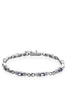 Belk & Co. Sterling Silver Tanzanite Diamond Bracelet