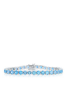 Belk & Co. Blue Topaz Bracelet in Sterling Silver