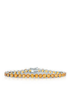 Belk & Co. Citrine Bracelet in Sterling Silver